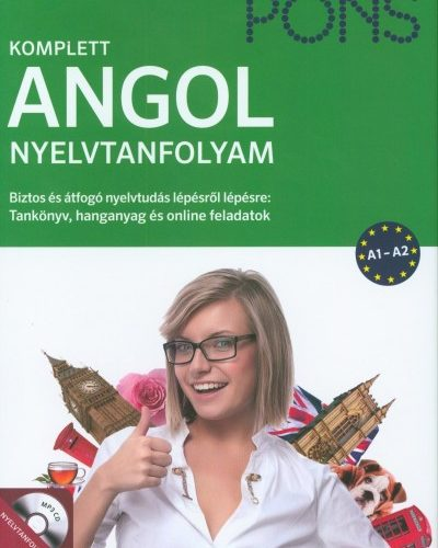 PONS - Komplett angol nyelvtanfolyam - Tankönyv, hanganyag és online feladatok