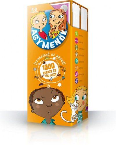 Agymenők kártyacsomag 8-9 éveseknek - Tornáztasd az agyad - 1000 kérdés és válasz